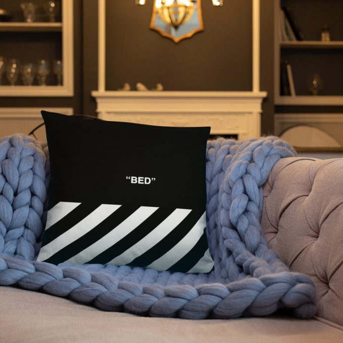 Off Bed Word Custom Throw Pillow