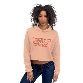 Vegan Things Women Crop Hoodie