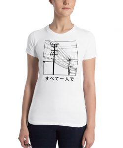 All Alone Japanese Women Slim Fit T Shirt