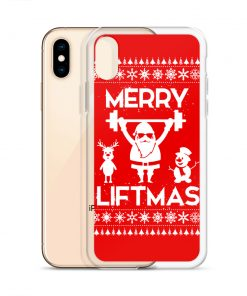 Funny Santa Merry Liftmas Custom iPhone X Case