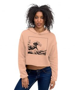The Great Wave Off Kanagawa Crop Hoodie