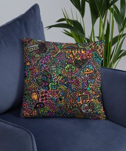 Vintage Pop Art Pattern Throw Pillow