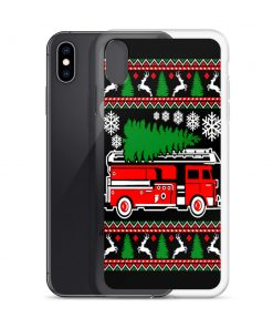 Firefighter Christmas Tree Custom iPhone X Case
