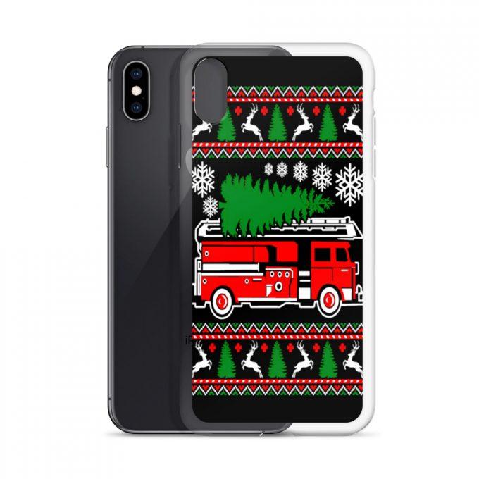 Firefighter Christmas Tree Custom iPhone X Case