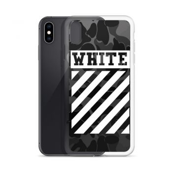 Off White Cross Camo Custom iPhone X Case