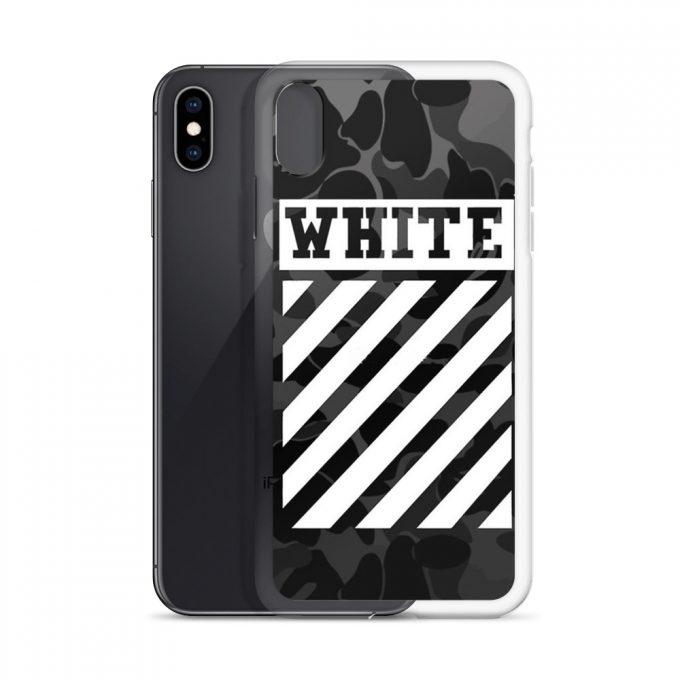 Off White Cross Camo Custom iPhone X Case