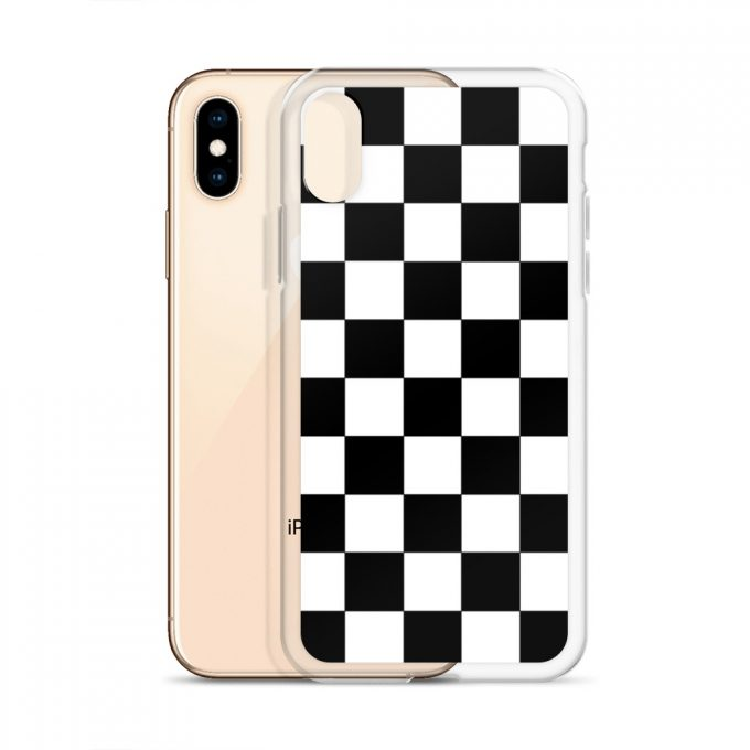 Vans Checkerboard Black White Custom iPhone X Case