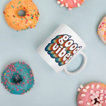Good Vibes Colorful Custom Mug