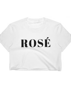 Rose Wine Cute Women Crop Top