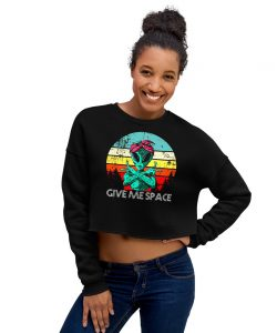 Gangsta Alien Give Me Space Crop Sweatshirt