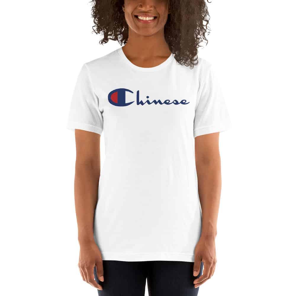 79d3c77d2 Chinese Champion Parody Custom Women T Shirt   Shirts Design by ...