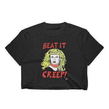 Beat It Creep Cry Baby Wanda Woodward Women Crop Tee