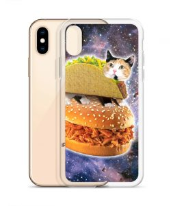 Cat Burger In Space Custom iPhone X Case