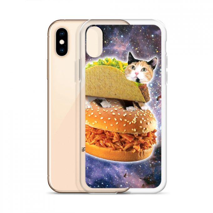 Cat Burger In Space Custom iPhone X Case