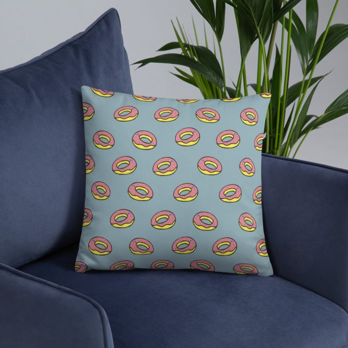 Donuts Pattern Custom Throw Pillow