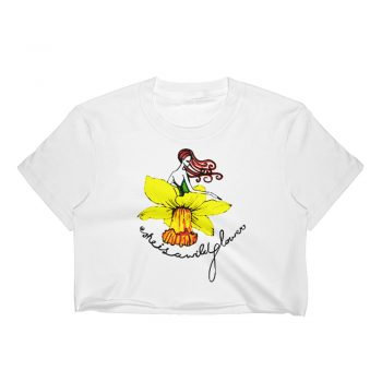 She is Wild FLower Women Crop Top