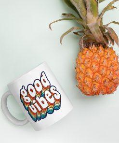 Good Vibes Colorful Custom Mug