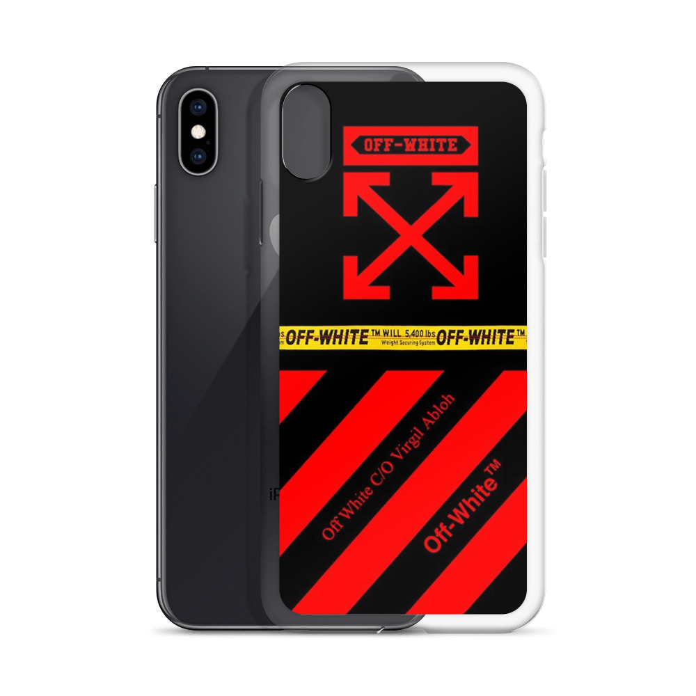 outlet store eb988 0d1a1 Red Cross Off-White Custom iPhone X Case, iPhone XS, iPhone XR And More