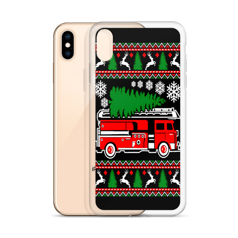 Christmas Phone Case Iphone Xr.Firefighter Christmas Tree Custom Iphone X Case Iphone Xs And Iphone Xr