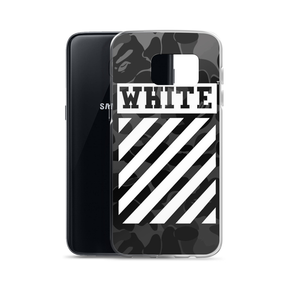 wholesale dealer 44082 088dc Cross Off White Camo Samsung Case available for Galaxy s8, s9, s7