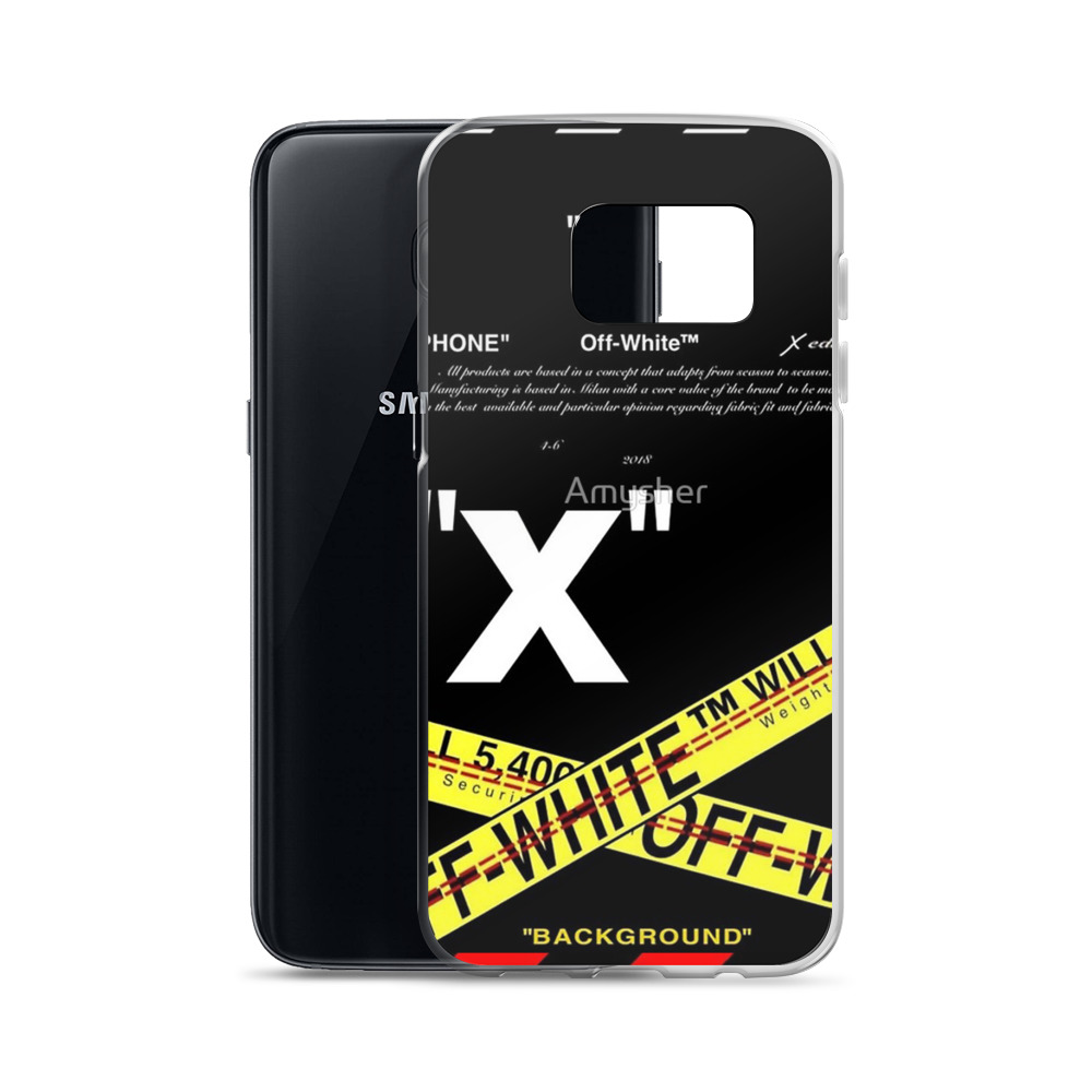 7334a5afeb0a8 Best Cross Off White Samsung S8 Case