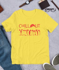 Chillout Penguins Unisex T Shirt