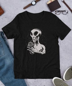 Cute Alien Drink Juice Unisex T Shirt