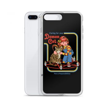 Caring For Your Demon Cat Custom iPhone X Case