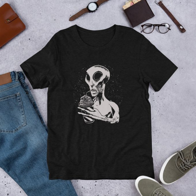 Cute Alien Drink Juice Unisex T Shirt