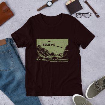 Believe Roswell UFO Unisex T Shirt
