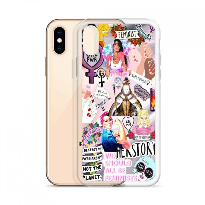 Feminist Girl Power Collage Custom iPhone X Case