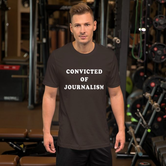 Convicted Of Journalism London Vs South Korea Unisex T-Shirt