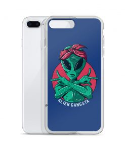 Funny Alien Gangsta Custom iPhone X Case