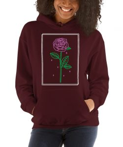 Aesthetic Rose Crying Unisex Hoodie