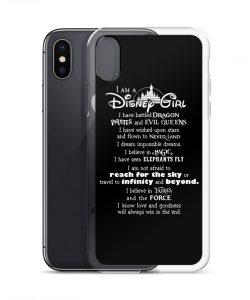 I'm A Disney Girl Quote Custom iPhone X Case