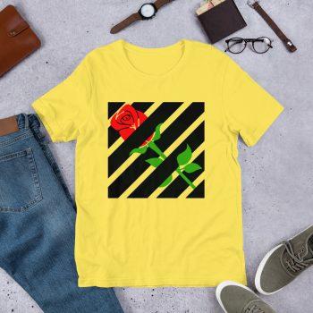 Hypebeast Aesthetic Red Rose Off White T Shirt Inspired