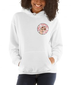 Girls Support Girls Slogan Hoodie