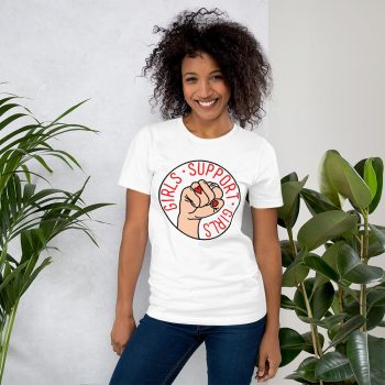 Girls Support Girls Feminist Slogan T Shirt