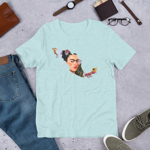 Frida Kahlo Mexico Map Unisex T Shirt