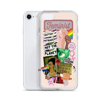 Feminist Fight Like Girl Collage Custom iPhone X Case