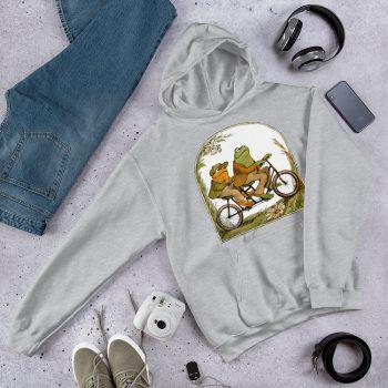 Frog and Toad Bicycle Hoodie Sweatshirt