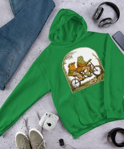 Frog and Toad Bicycle Hoodie Sweatshirt