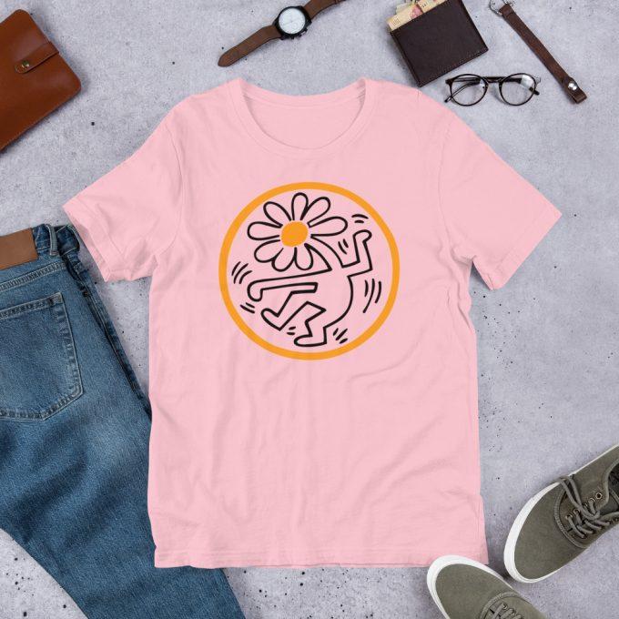Sunflower Button American Pop Art Unisex T Shirt