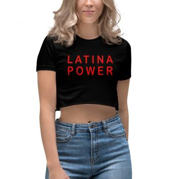 Best Latina Power Women's Crop Top