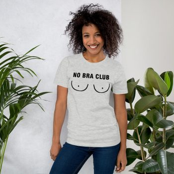 No Bra Club Boob Tits T Shirt