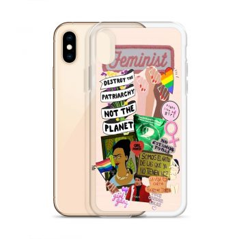 Feminist Fight Like Girl Collage Custom iPhone X Case