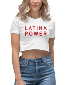 Best Latina Power Women's Crop Top