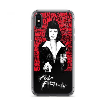 Mia Wallace Pulp Fiction Classic Movie Custom iPhone X Case