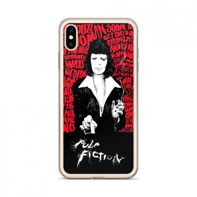Mia Wallace Pulp Fiction Classic Movie Custom iPhone X Case