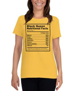 Black Queen Nutritional Facts Women T Shirt